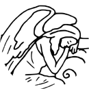 Tired lonely angel